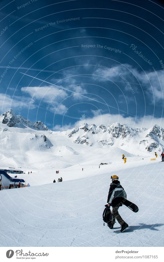 Mal kurz abkühlen gehen Ferien & Urlaub & Reisen Tourismus Abenteuer Ferne Winterurlaub Sport Wintersport Snowboard Umwelt Natur Landschaft Schönes Wetter Alpen
