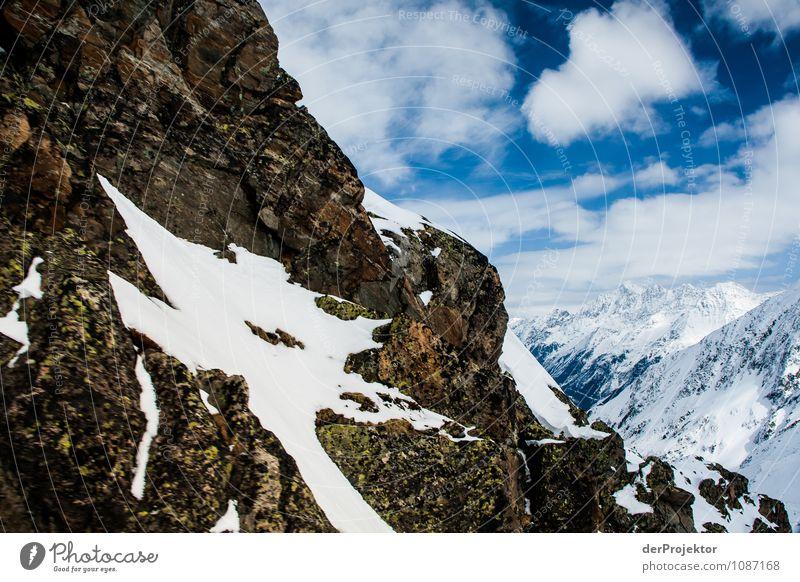 Bischen Schnee ist noch da Ferien & Urlaub & Reisen Tourismus Ausflug Abenteuer Ferne Freiheit Winterurlaub Berge u. Gebirge wandern Snowboard Umwelt Natur