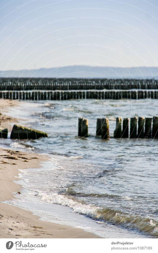 Wellenbrecher vs. Meer (0:1) Ferien & Urlaub & Reisen Tourismus Ausflug Ferne Freiheit Umwelt Natur Landschaft Pflanze Wasser Herbst Schönes Wetter Küste Strand