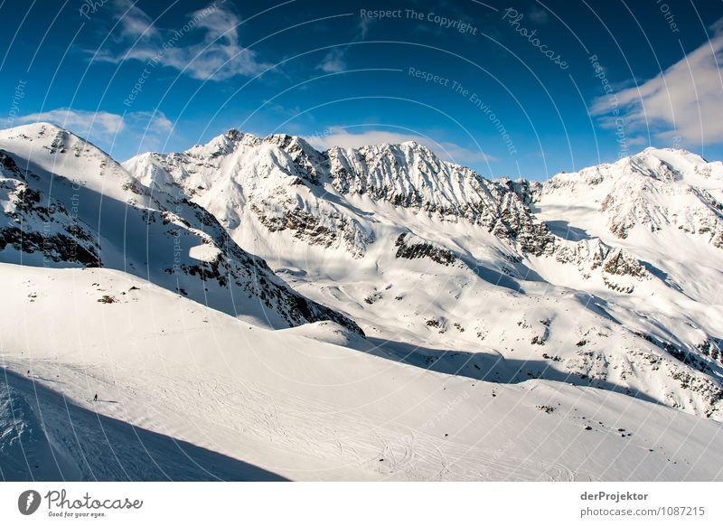 Eis, Schnee und blauer Himmel Natur Ferien & Urlaub & Reisen Landschaft Wolken Ferne Winter Berge u. Gebirge Umwelt Gefühle Sport Freiheit Felsen Tourismus