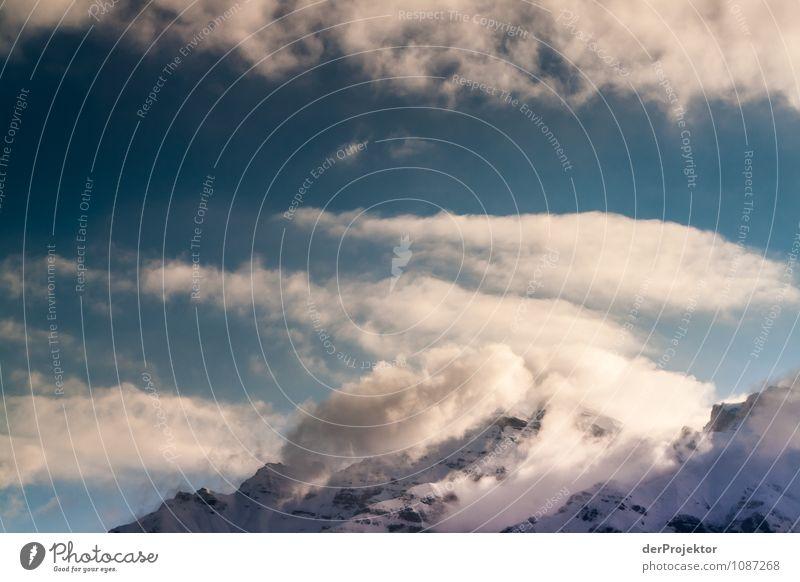 Licht- und Wolkenspiel am Berg 2 Ferien & Urlaub & Reisen Tourismus Ausflug Abenteuer Ferne Freiheit Umwelt Natur Landschaft Pflanze Tier Winter Schönes Wetter