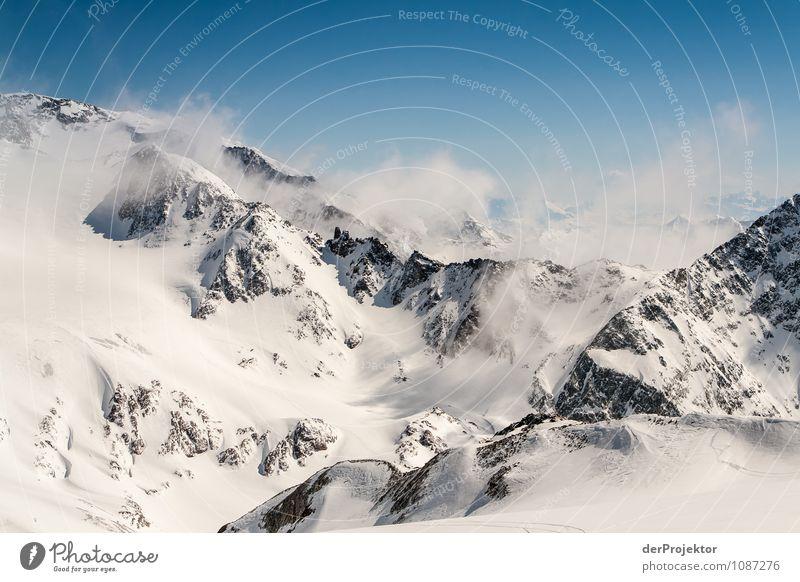 Wintertag am Stubaigletscher Natur Ferien & Urlaub & Reisen Pflanze Landschaft Tier Ferne Berge u. Gebirge Umwelt Gefühle Schnee Freiheit Felsen Tourismus Eis