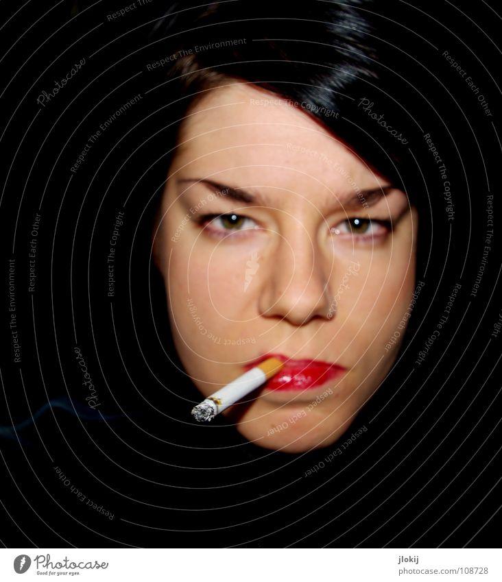 3800 chemische Verbindungen Mensch Frau rot schwarz Gesicht Auge dunkel Haare & Frisuren Mund Nase gefährlich Suche Rauchen Lippen Tabakwaren Wut