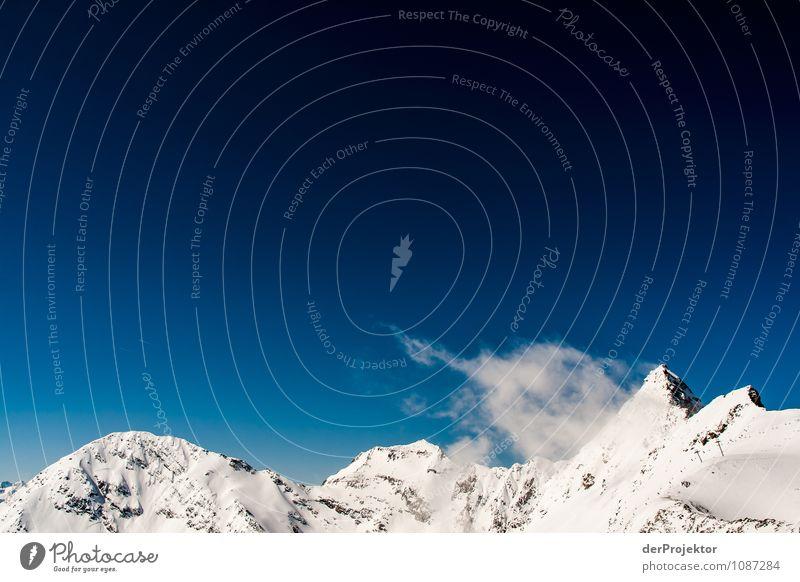 Zartes Wölkchen an Gipfel Ferien & Urlaub & Reisen Tourismus Ausflug Ferne Freiheit Winterurlaub Berge u. Gebirge Umwelt Natur Landschaft Pflanze Schönes Wetter