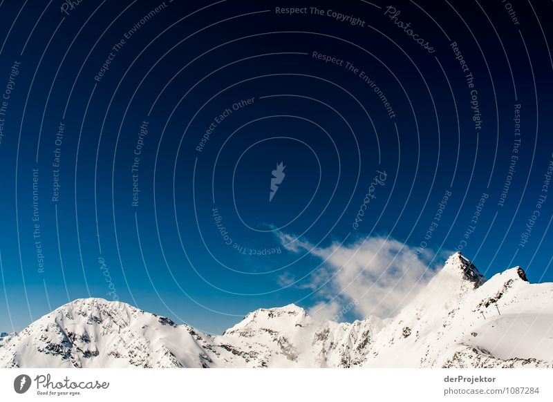 Zartes Wölkchen an Gipfel Natur Ferien & Urlaub & Reisen Pflanze Landschaft Ferne Winter Berge u. Gebirge Umwelt Schnee Freiheit Eis Tourismus Kraft Ausflug