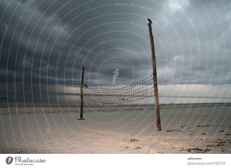 Sunrise in rain on Zanzibar Strand Leben Sand Küste Volleyball Arktis Tansania Nordpol Sansibar