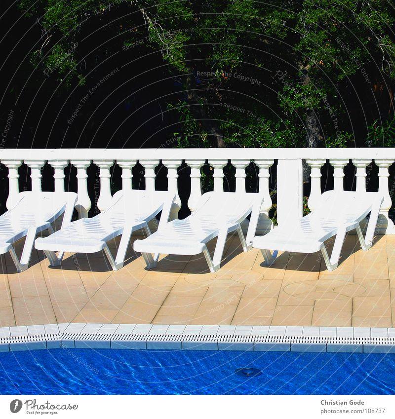 Alles frei blau Wasser weiß grün Ferien & Urlaub & Reisen Sommer Wald kalt Wand Wärme orange liegen lesen Reinigen Schwimmbad Geländer