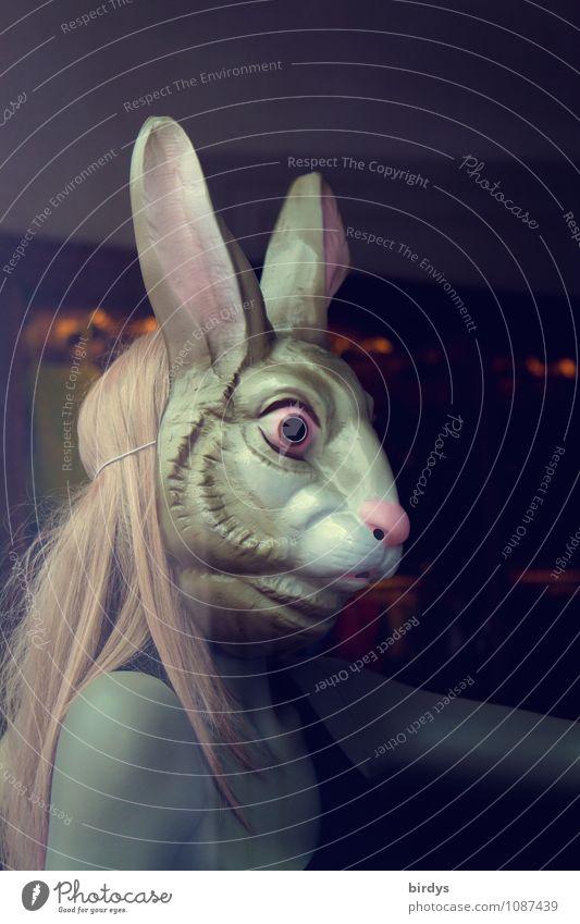 Osterbunny Mensch Jugendliche nackt Junge Frau Erotik 18-30 Jahre Erwachsene feminin außergewöhnlich blond ästhetisch Kreativität Sex retro Ostern Maske