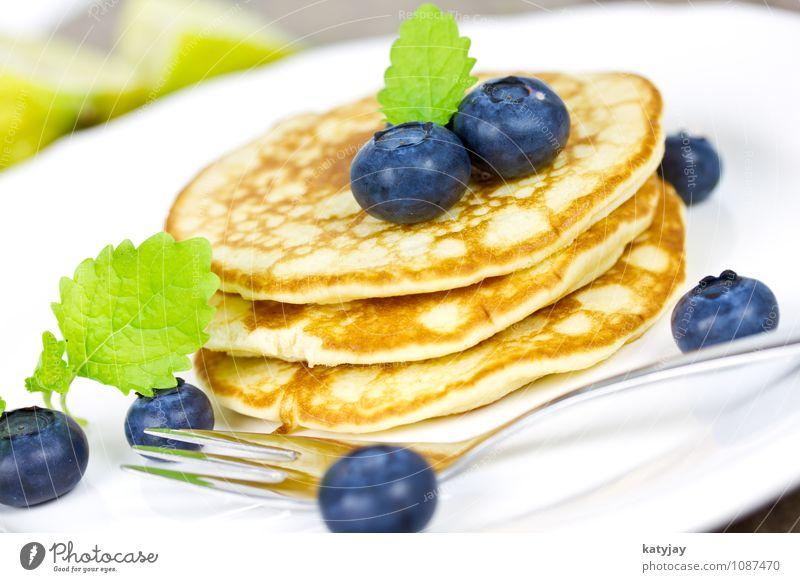 Pancakes Frucht Beginn süß nah Frühstück Restaurant Amerika Dessert Stapel Mehl Blaubeeren Pfannkuchen Crêpe Portion Pancake Rocks