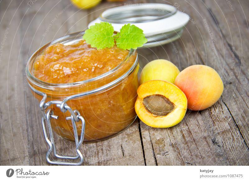 Marmelade Pfirsich Aprikose weinbergpfirsich Frühstück Minze weinbergpfirsiche Frucht Steinfrüchte Kernobst Hintergrundbild Diät Dessert Marmeladenglas