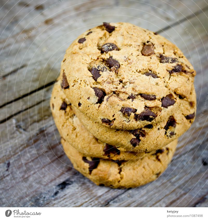 Kekse cookie cookies Amerika Schokolade braun Speise Essen Foodfotografie Plätzchen schokocookies Schokoladenkuchen Freisteller Backwaren Kalorie