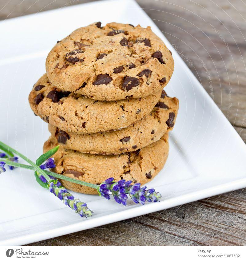 Kekse cookie cookies Amerika Schokolade braun Speise Essen Foodfotografie Plätzchen schokocookies Schokoladenstreusel Freisteller Backwaren Kalorie
