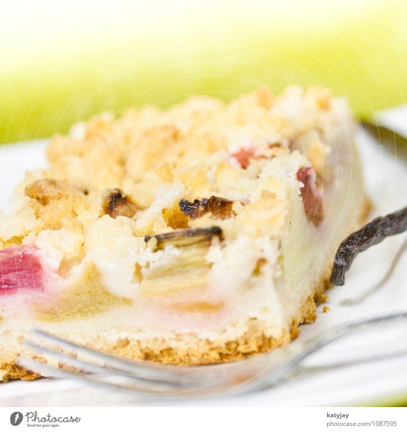 Rhabarberkuchen Rührkuchen Vanille Vanilleschote blechkuchen Herbst herbstlich Streusel Kuchen streuselkuchen Hefe Kaffee Kaffeetisch Backwaren frisch Dessert