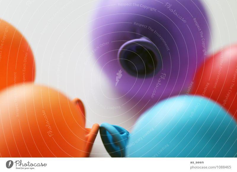 Luftballons Farbe Freude Spielen Lifestyle Feste & Feiern Zusammensein Freundschaft orange Design Freizeit & Hobby modern Geburtstag Kindheit Fröhlichkeit