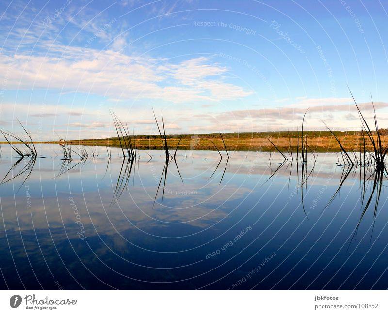 ~~Spiegelungen~~ Highlands Kanada Nova Scotia Herbst Indian Summer Farbe Farbstoff Landschaft Reflexion & Spiegelung Wasser Atlantik blau weiß grün rot Wolken