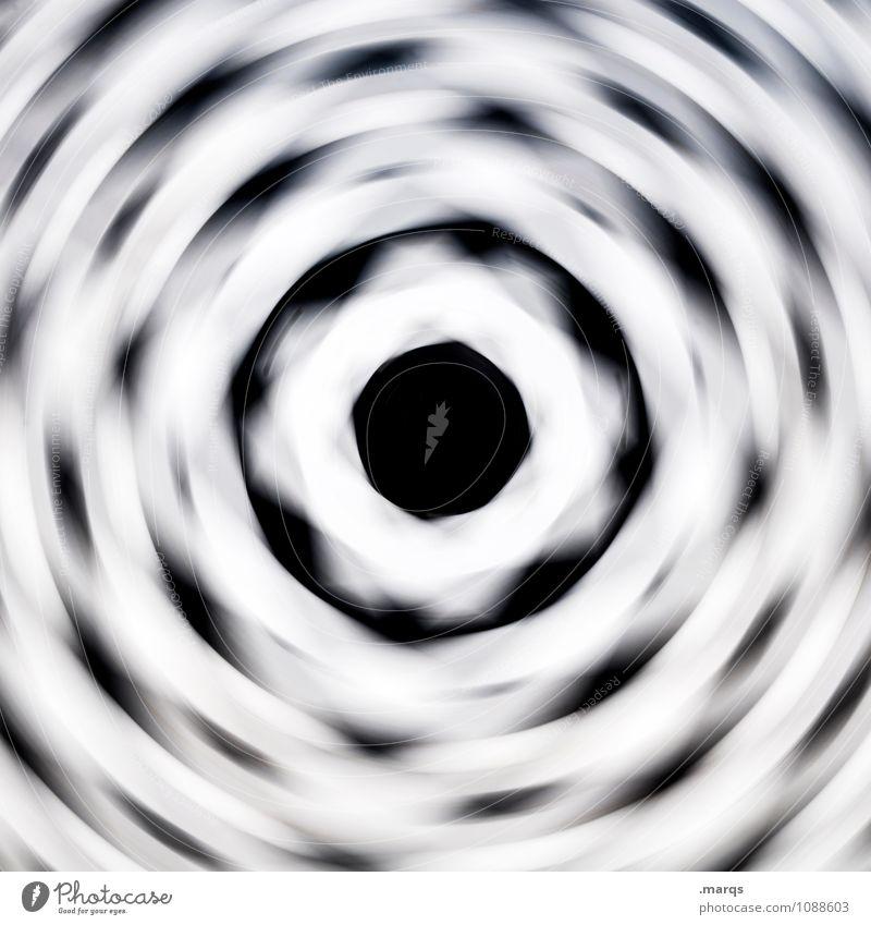 Am Rad drehen Stil Design Ornament Linie Kreis Kreisel Geschwindigkeit verrückt schwarz weiß Bewegung Irritation hypnotisch durchdrehen Doppelbelichtung