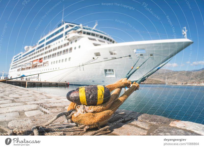 Himmel Ferien & Urlaub & Reisen blau weiß Sommer Erholung Meer Wasserfahrzeug Freizeit & Hobby modern Tourismus Verkehr groß Ausflug Hafen Reichtum