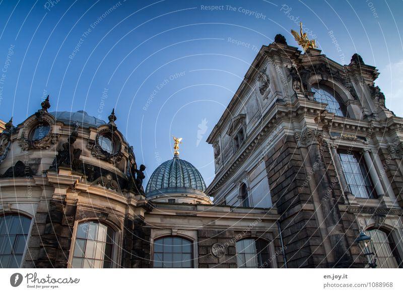 Zitronenpresse Ferien & Urlaub & Reisen Tourismus Ausflug Sightseeing Städtereise Studium Kunstakademie Himmel Dresden Stadt Bauwerk Gebäude Architektur Mauer