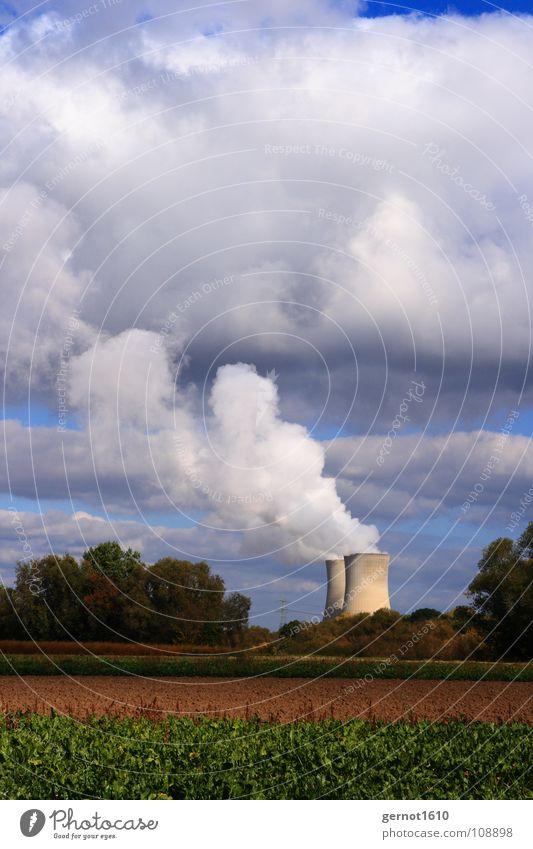 Energie Wolken Umwelt Landschaft Wärme Kraft Energiewirtschaft Zukunft Kraft Industrie Technik & Technologie Strahlung Foyer Desaster Umweltverschmutzung Wasserdampf Entwicklung