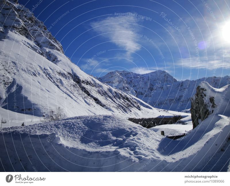 Himmel Natur schön Sonne Landschaft Winter Berge u. Gebirge Schnee Wellness