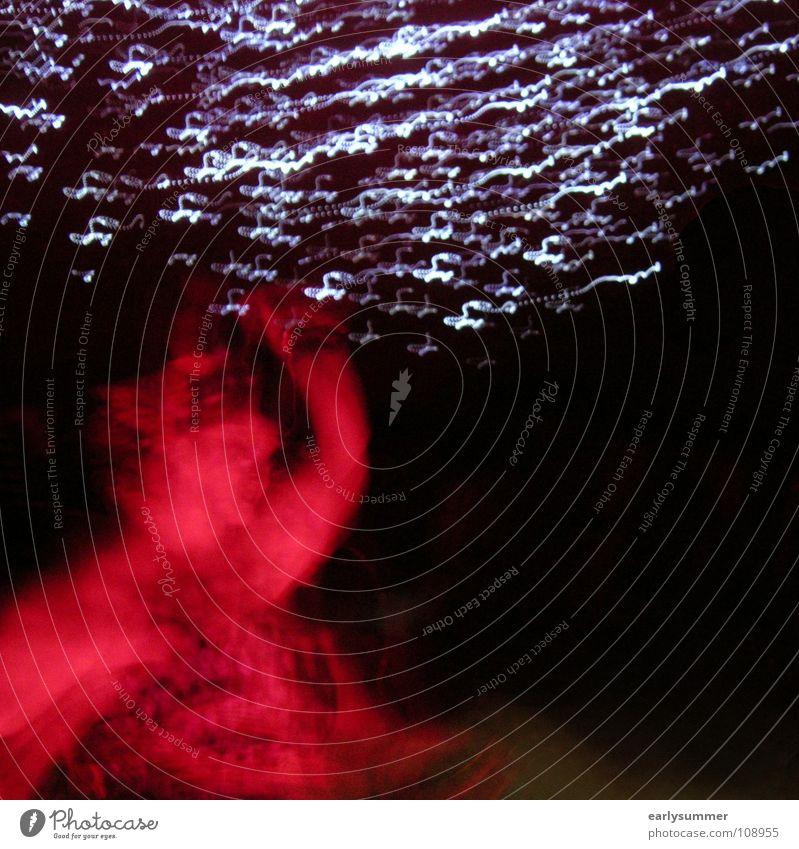 Mit den Sternen tanzen Freude dunkel Bewegung Freiheit Party Feste & Feiern Tanzen gehen Geburtstag Arme Stern Silvester u. Neujahr Disco Club Veranstaltung