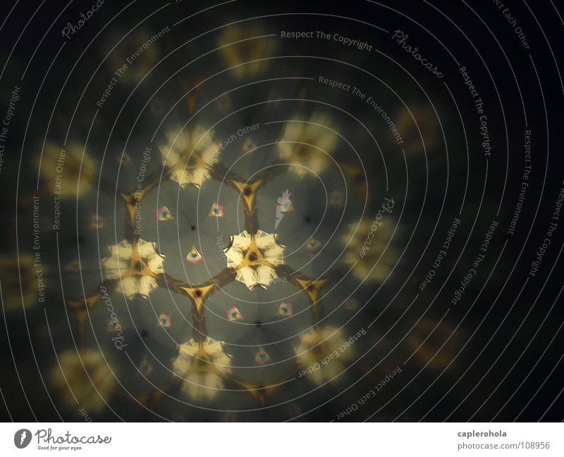 Durchs Kaleidoskop schön Blume träumen beige faszinierend Kinderspiel blau-grau