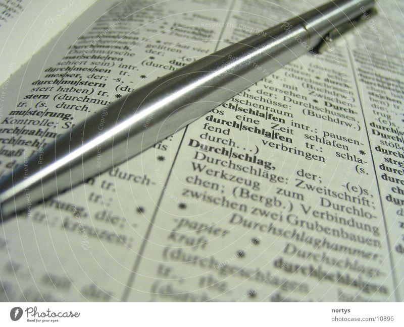 Lesen und Schreiben Schreibstift Kugelschreiber Buch Lexikon Dinge Wissen