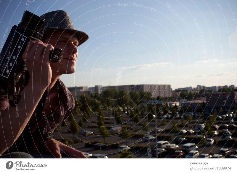 Filmograf Mensch Jugendliche Junger Mann Erholung ruhig Freude 18-30 Jahre Lifestyle Erwachsene Leben Stil Arbeit & Erwerbstätigkeit Freizeit & Hobby maskulin