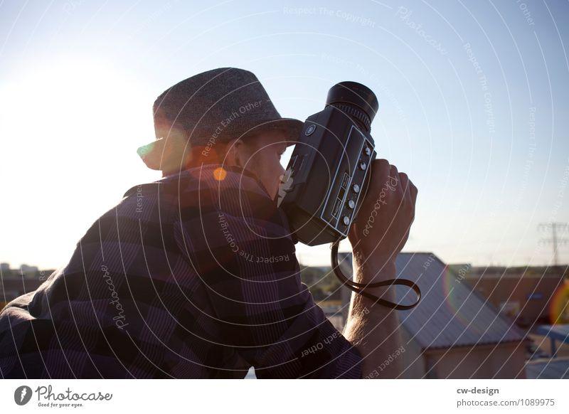 8mm Lifestyle Stil Freude Freizeit & Hobby Veranstaltung Arbeit & Erwerbstätigkeit Beruf Videodreh filmen Arbeitsplatz Videokamera Technik & Technologie