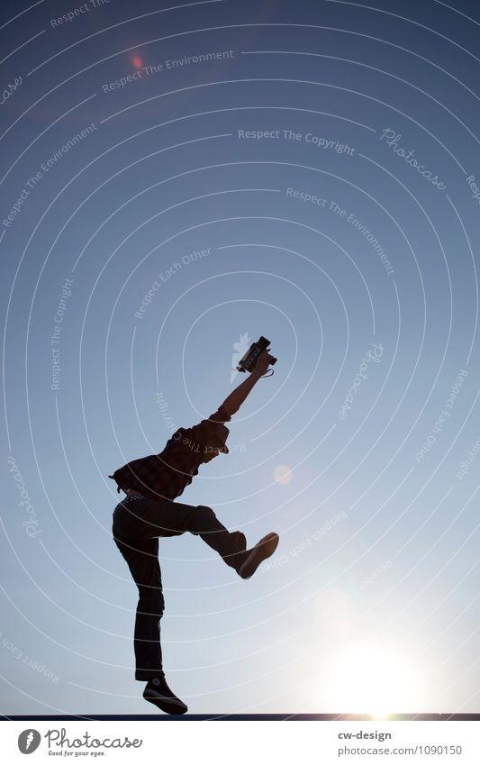 997 Freudensprünge Lifestyle Stil Zufriedenheit Freizeit & Hobby Ferien & Urlaub & Reisen Abenteuer Freiheit Sightseeing Sommerurlaub Mensch maskulin