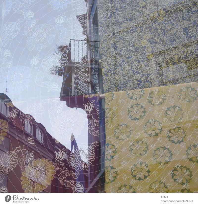TRAUMHAUS II alt Blume Stadt Haus gelb Straße oben träumen braun hoch authentisch violett Wunsch Spiegel obskur historisch
