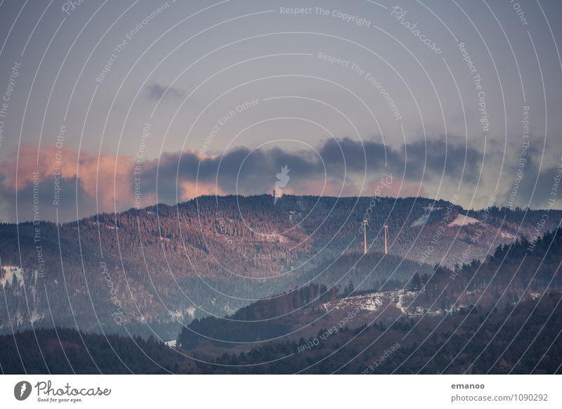 Schauinsland Ferien & Urlaub & Reisen Tourismus Ausflug Winter Schnee Berge u. Gebirge Energiewirtschaft Erneuerbare Energie Windkraftanlage Natur Landschaft
