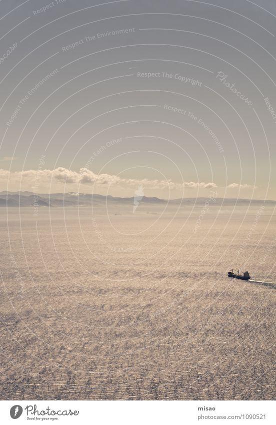 Into the BlueGrey Himmel Ferien & Urlaub & Reisen Wasser Sommer Sonne Meer Einsamkeit Landschaft ruhig Wolken Ferne Umwelt Berge u. Gebirge Küste Freiheit