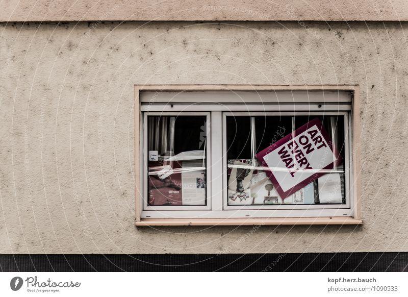art on every wall Fenster Wand Mauer Kunst Lifestyle Fassade Dekoration & Verzierung Schilder & Markierungen modern Schriftzeichen Lebensfreude Kreativität