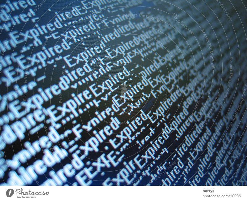 Expired Stil Hintergrundbild Schriftzeichen Bildschirm Fototechnik