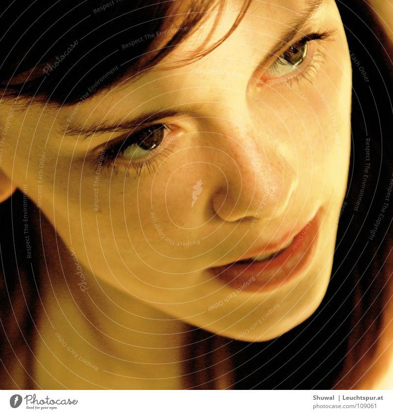 air france Haare & Frisuren Auge Nase Mund Lippen Kopf Gesicht Haut Licht Blick brünett schön Frau Vertrauen Hoffnung Porträt Photo-Shooting eitel Model
