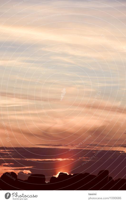 Schimmer Wolken Sonne Sonnenaufgang Sonnenuntergang Sonnenlicht Stimmung Romantik Abenddämmerung rot Naturphänomene schön Farbfoto Außenaufnahme