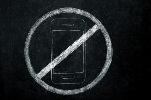 Handy verboten Stil Schule Schilder & Markierungen Technik & Technologie Kommunizieren Telefon Bildung Veranstaltung Restaurant Bar Strahlung Konflikt & Streit