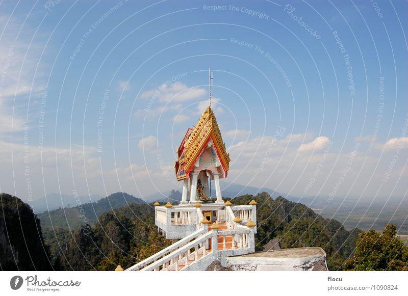 Himmel Ferien & Urlaub & Reisen blau schön Berge u. Gebirge Gesicht Architektur Gebäude Religion & Glaube Kunst Tourismus gold sitzen Insel Aussicht Platz