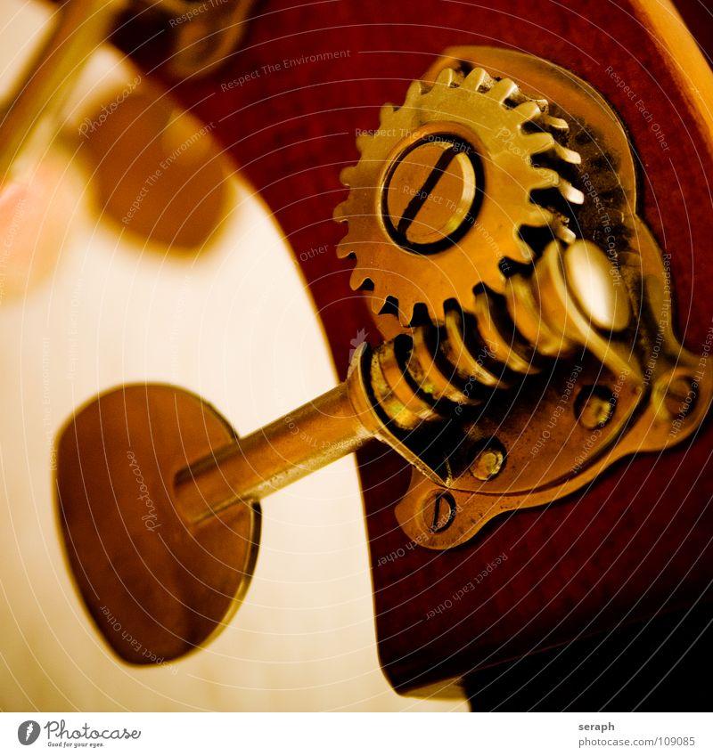 Kontrabass Elektrobass Musikinstrument Holz edel Zahnrad nobel streicher Streichinstrumente Orchester musizieren Makroaufnahme Klang Schraube Beschläge