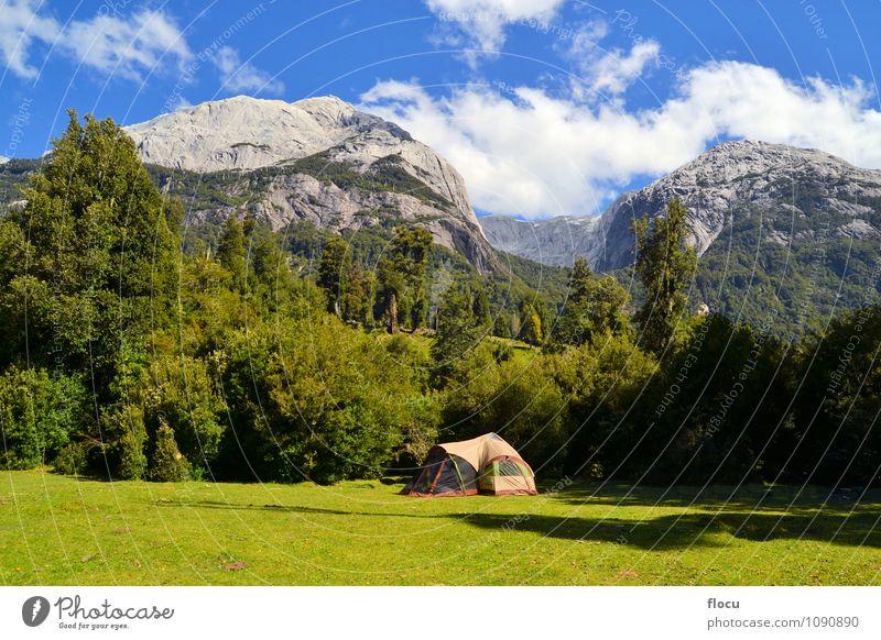 Ferien & Urlaub & Reisen schön Sommer Berge u. Gebirge See Wind wandern Abenteuer Klettern Süden Camping Bergsteigen Zelt Gletscher Chile Südamerika