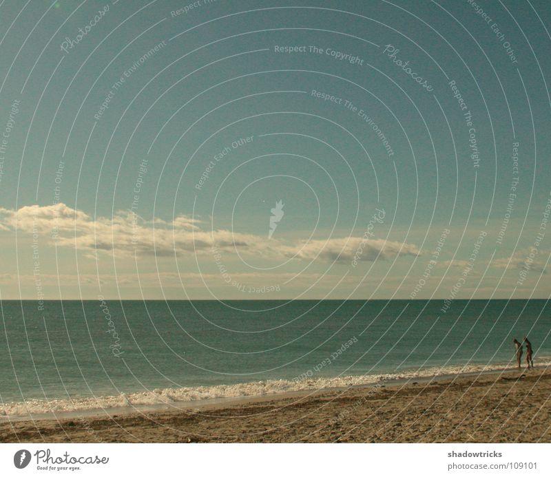 New Love Mensch Himmel Meer grün blau Strand Wolken Sand Wetter