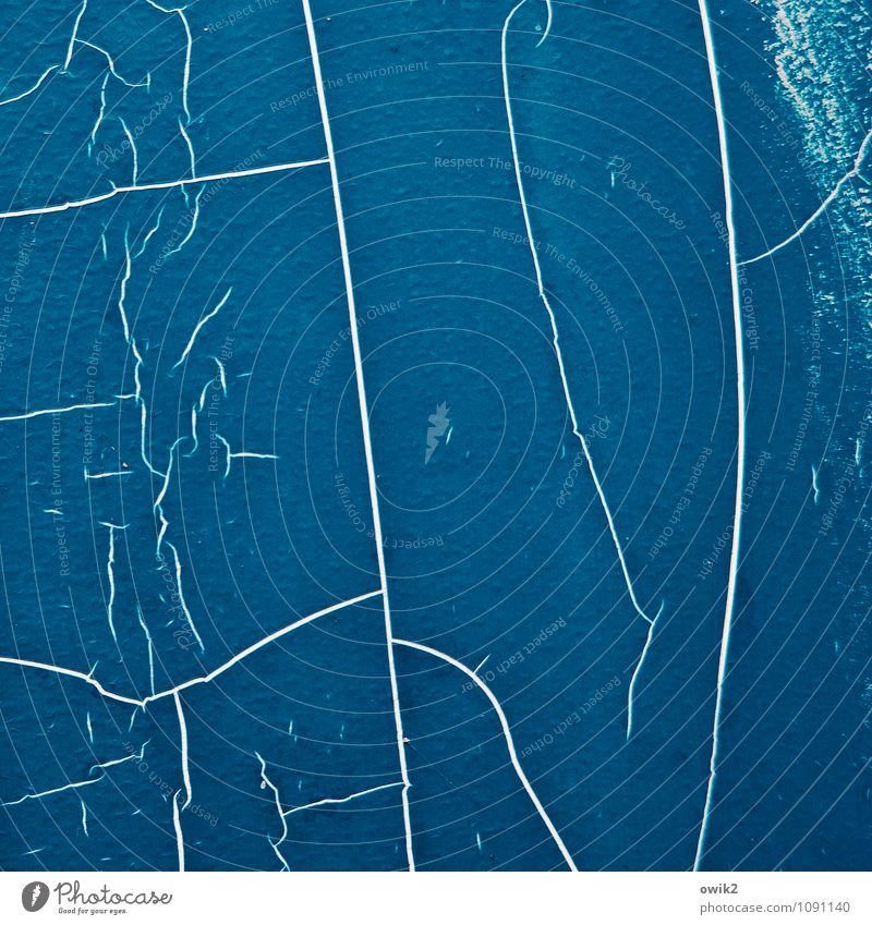 Absicht blau Farbe Hintergrundbild Kunst Textfreiraum Vergänglichkeit Kunststoff Gemälde Riss Irritation bizarr Zerstörung Oberfläche Kunstwerk Rätsel unklar