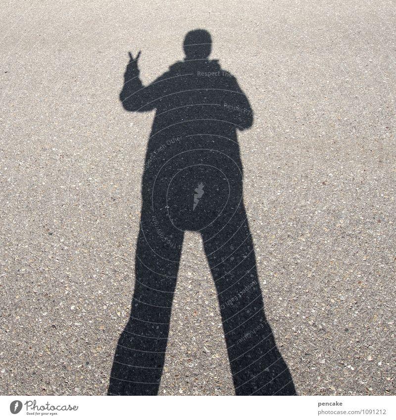 mein name ist hase Mensch Leben 1 Zeichen Kommunizieren Kontakt Schattenspiel Hasenohren Gebärdensprache Ostern Silhouette Straßenbelag Name Frieden Erfolg