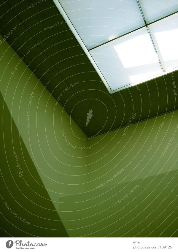 loki zwei weiß grün Wand Fenster oben Linie Raum modern Innenarchitektur Klarheit rein Quadrat Geländer Grenze Idee