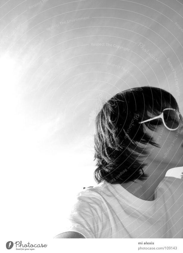 Chris 2006 ruhig schön Trauer vertraut Außenaufnahme Fernweh einfach Guajome Park Academy Vista Schwarzweißfoto Himmel USA friedlich Sonne Wärme Gastbruder