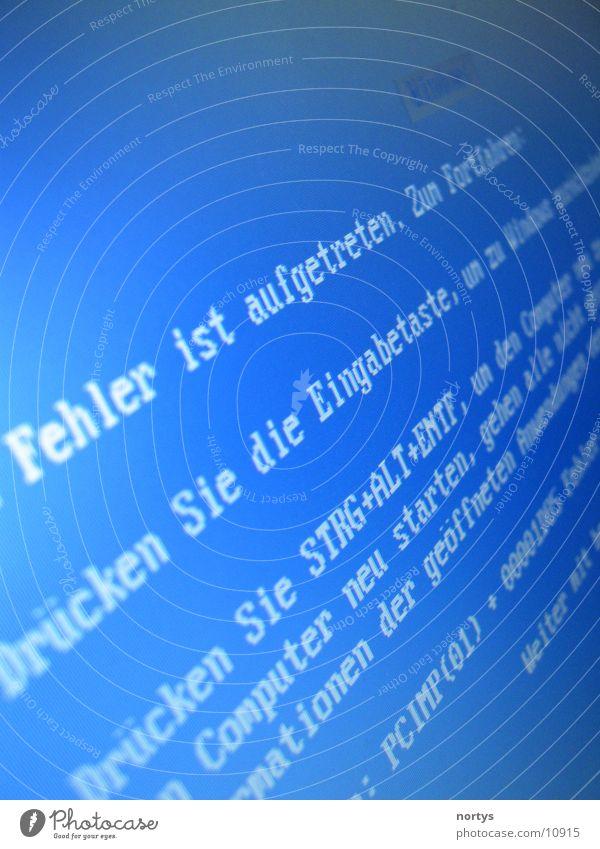 Fehler im Fenster Elektrisches Gerät Technik & Technologie Computer Blue Screen Bluescreen Software