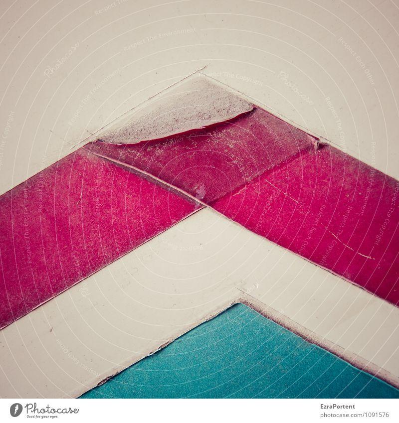 Berglawine (rot wegen der Not) Design Zeichen Schilder & Markierungen Linie Streifen blau weiß Farbe Kreativität Grafik u. Illustration beklebt Trennung kaputt