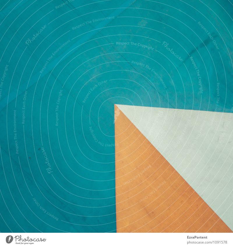 < Design Kunststoff Linie blau grau orange weiß Farbe Grafik u. Illustration eckig Ecke Geometrie Grafische Darstellung graphisch Spitze Dreieck Farbfoto