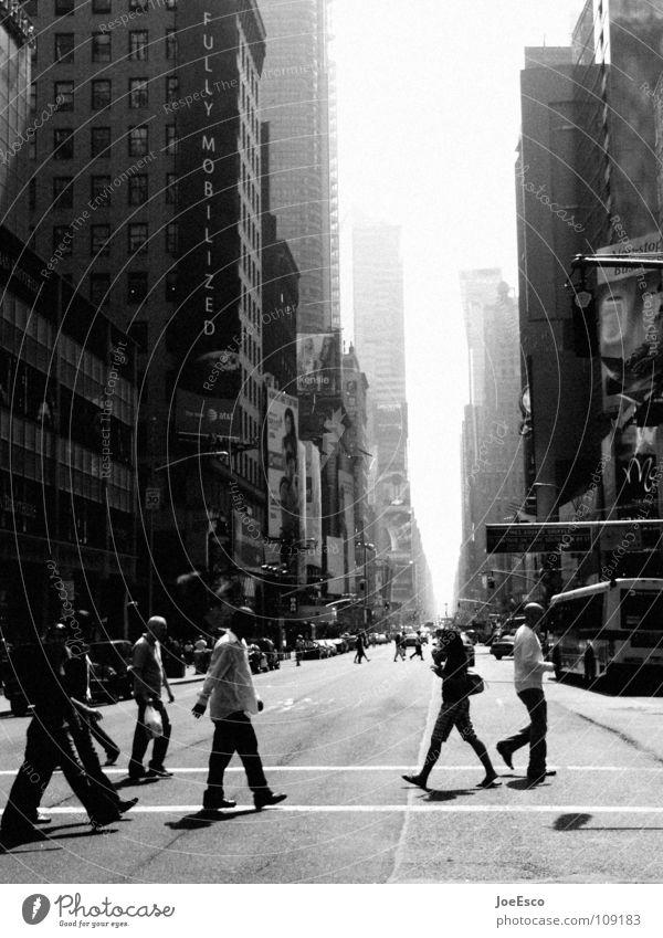 new york street life Mensch Stadt Ferien & Urlaub & Reisen Straße Leben Verkehr Amerika USA New York City Fußgänger Streetlife